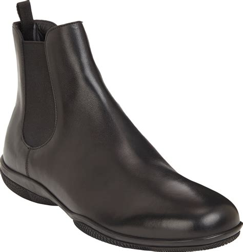 prada toe chelsea boot in black for lyst