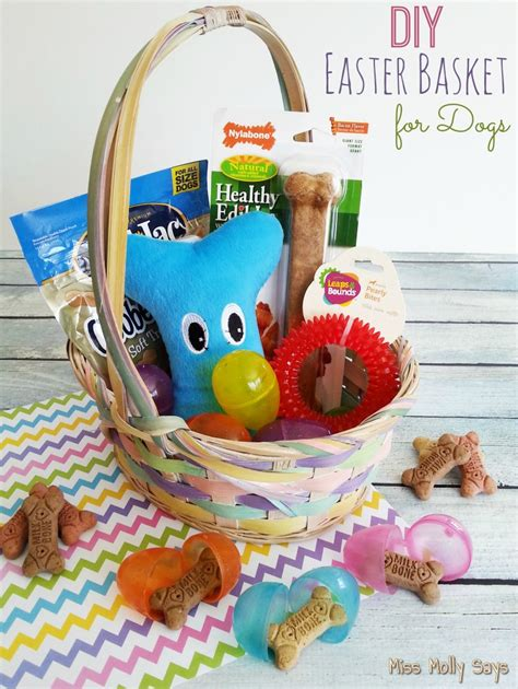 diy easter basket diy easter basket for dogs day 8 12daysof easter recipes crafts southern krazed