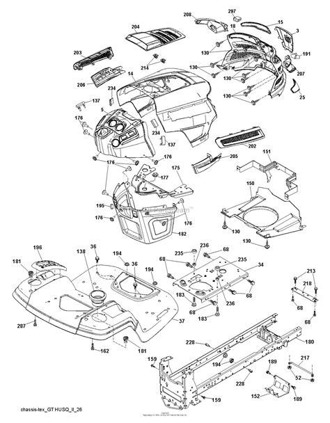husqvarna ythk    parts diagram  chassis frame