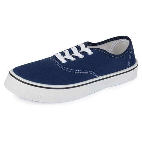 lace up detail day shoes womens navy blue canvas