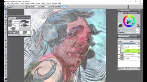 watercolor tutorial corel painter corel painter 2018 digital art software thick paint for