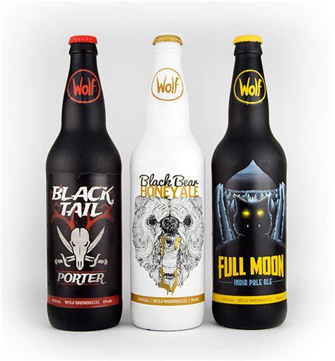 design beer label uk wolf brewing co beer label bottle design on behance