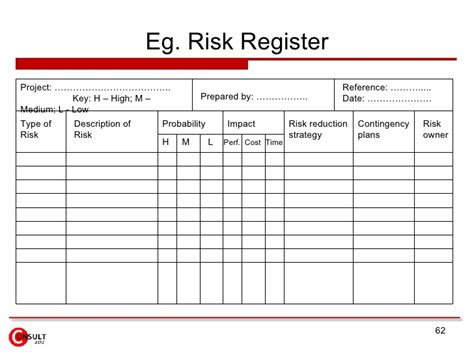 risk assessment register template risk register template best letter sle