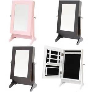 table top jewellery box cabinet organiser hanger mirror