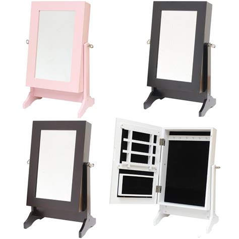 desk mirror with stand jewellery box organiser stand dressing mirror for