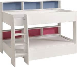 bunks beds parisot tam tam white bunk bed with shelves the home and
