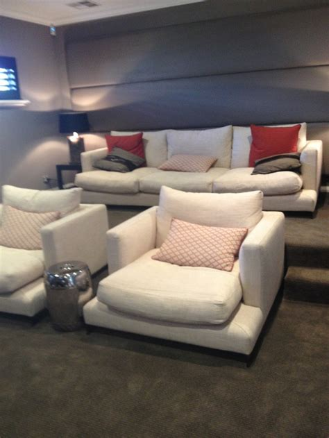 seating idea comfy chairs   raised couch basement