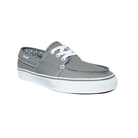 lyst vans hull canvas boat shoes in gray for men - Vans Or Boat Shoes