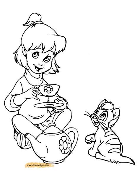 disney oliver and company printable coloring pages
