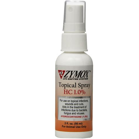 hydrocortisone spray for dogs zymox spray with hydrocortisone 2 oz