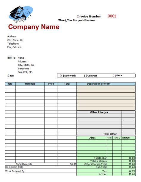 free printable service invoice template mechanic invoice template free invitation template