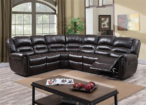 leather motion sectional sofa g685 motion sectional sofa in cappuccino bonded leather by