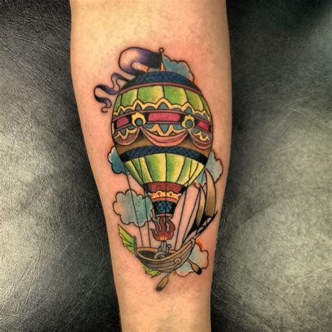 hot tattoos air balloon ideas