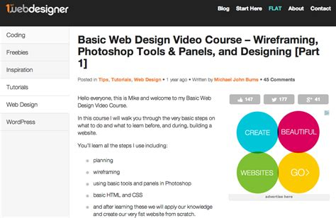 website tutorial video 8 website design tutorials worth your time