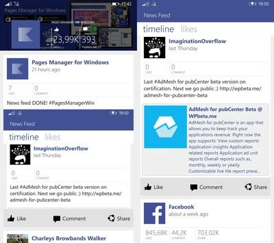 fb windows fb pages manager for windows phone updated with news feed