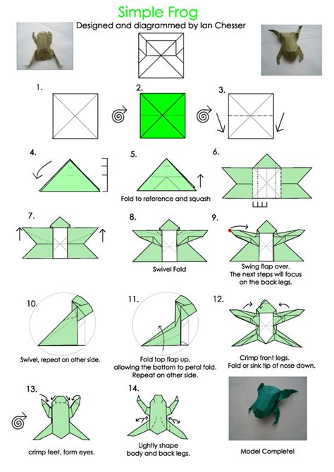 Origami Frog Printable - best photos of origami templates to print easy origami