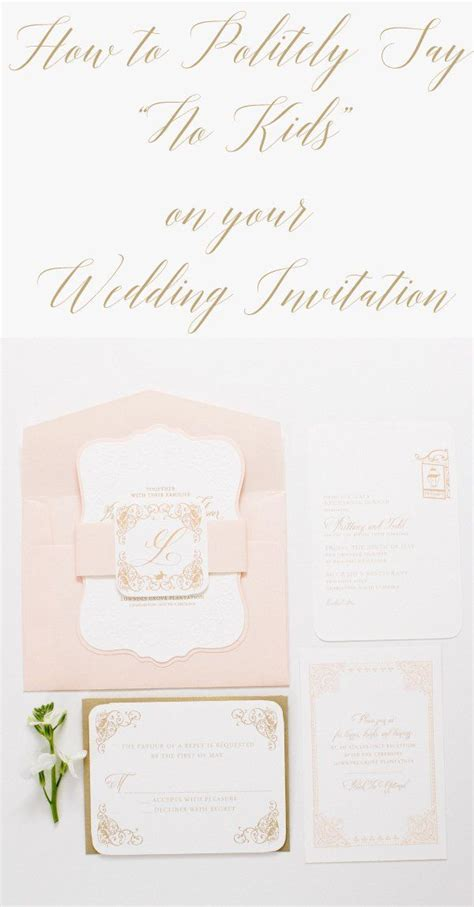 How To Say No Children On Wedding Invite