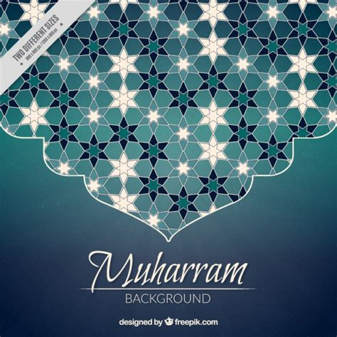 Decoration Islam islamic new year background with beautiful abstract