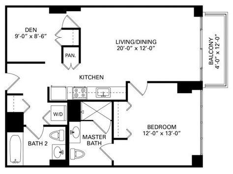bedroom  den floor plan  property trio  chicago trio apartments  chicago
