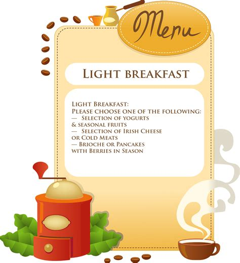 Light Breakfast by Breakfast Menu Killowen House