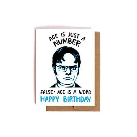 the office cards dwight schrute birthday card the office bday card