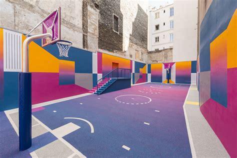 pigalle duperre basketball court  paris urdesignmag