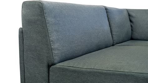 denim fabric sofa nyle denim blue fabric sofa bed with chrome legs zuri