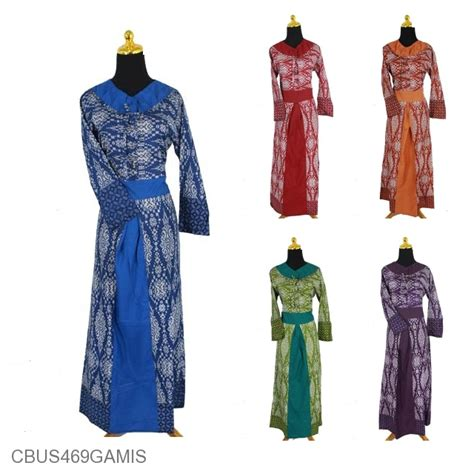 Baju Gamis Batik Pekalongan Wanita Motif Asmat Biru Busui baju batik sarimbit gamis motif asmat etnik tumpal gamis
