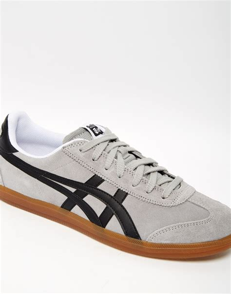 Onitsuka Tiger Suede Brown Original onitsuka tiger tokuten suede trainers in gray for lyst