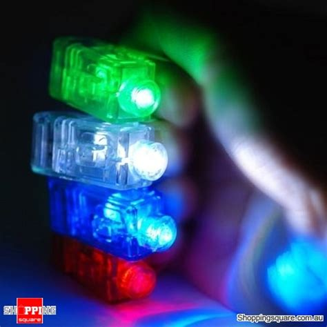 Laser Finger Light 4 X Led 4x gadget laser finger beams led light shopping shopping square au