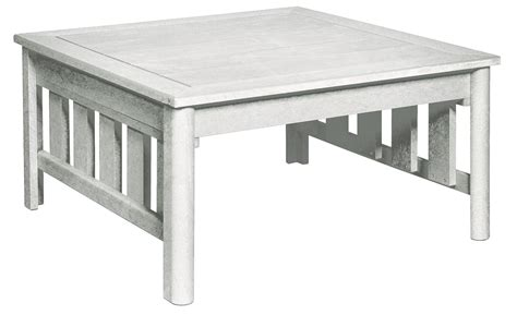 stratford white square cocktail table from cr plastic