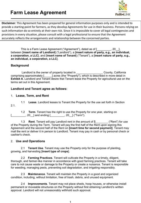 Lease Template Download Free Premium Templates Forms Sles For Jpeg Png Pdf Word And Farm Out Agreement Template