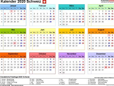 kalender  schweiz fuer word zum ausdrucken