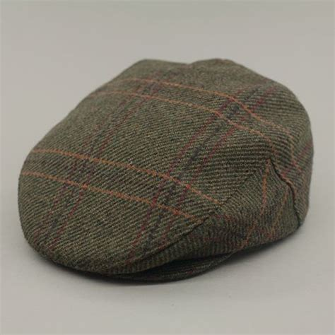 Handmade Caps - handmade tweed cap green