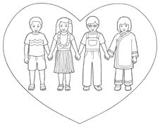 lds coloring pages love one another behold your little ones nursery manual lesson 18 i will