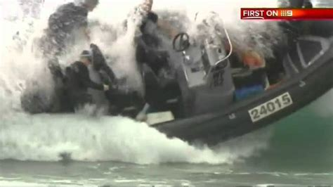 police boat fails police fail boat overturns during sea rescue in australia
