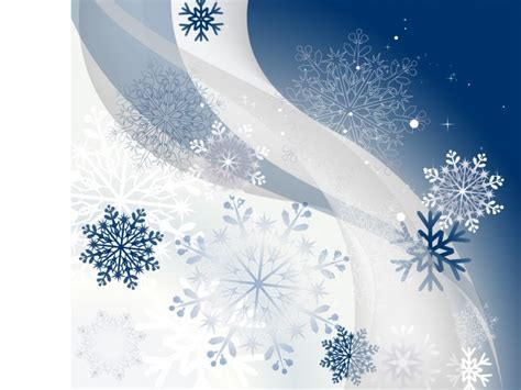 free winter background with snowflakes ppt template is a