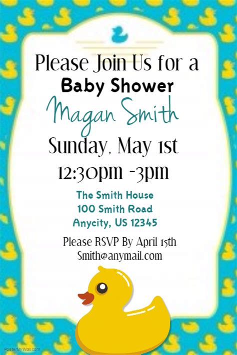 baby shower party template postermywall