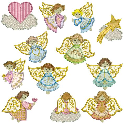 embroidery design sale angels 1 machine applique embroidery patterns 12