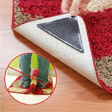 reusable rug grippers 4pcs rug carpet mat grippers non slip reusable washable silicone grip alex nld