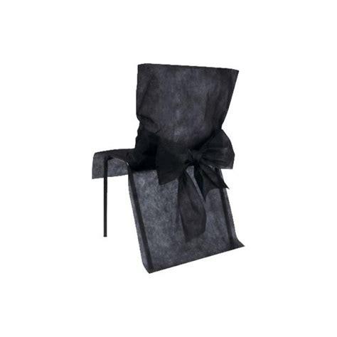 housses de chaise intiss 233 noir et noeuds les 10