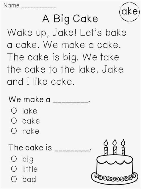 Kindergarten Reading Worksheets by Miss Giraffe S Class Tips For Building Reading Fluency