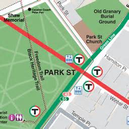 Boston Street Parking Map by Mbta Gt Schedules Amp Maps Gt Subway Gt Park Street Station
