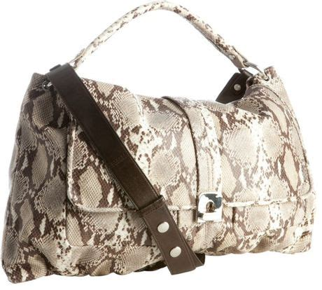 Kooba Python Embossed Tote by Kooba Python Embossed Leather Anika Shoulder Bag In Beige