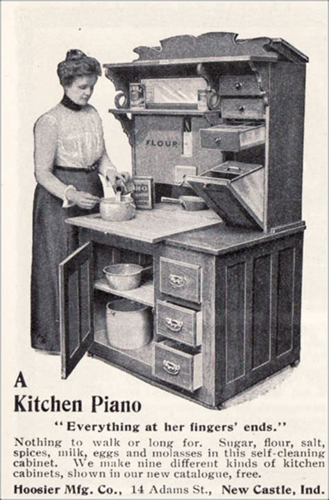 Hoosier Kitchen Cabinet by Kitchens From 1900 To 1920 Inspiration For Early 20th