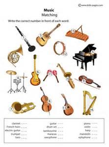 instruments matching worksheet