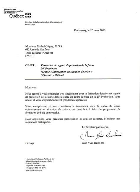 Exemple De Lettre De Démission Québec Modele Lettre Administrative