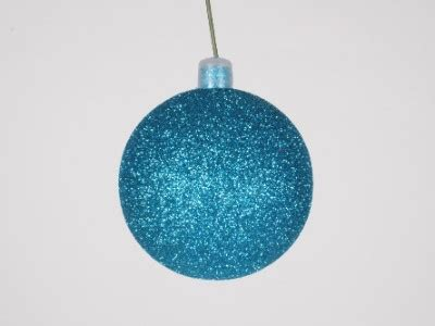 winterland inc glitter ball ornaments 250mm 10 quot aqua glitter ornament with wire