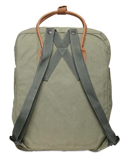 l inoui bono canvas backpack lyst fjallraven 16 l kanken canvas leather backpack in