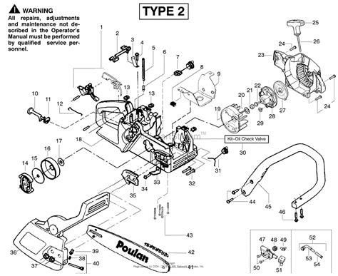 poulan thing chainsaw parts diagram poulan 2375le gas saw type 2 wildthing 2375le gas saw
